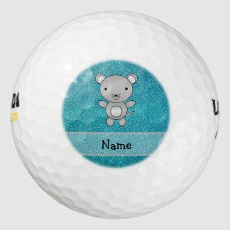 Brillo conocido personalizado de la turquesa del pack de pelotas de golf