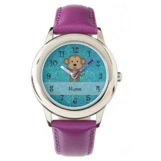 Brillo conocido personalizado de la turquesa del relojes de mano