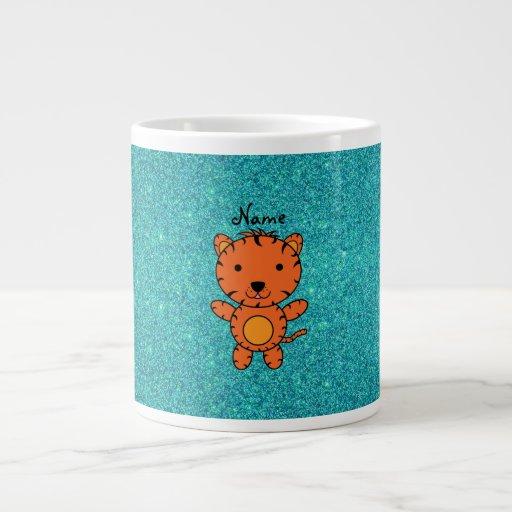 Brillo conocido personalizado de la turquesa del t tazas jumbo