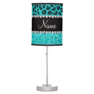 Brillo conocido personalizado del leopardo de la lámpara de mesilla de noche