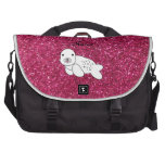 Brillo conocido personalizado del rosa de cría de  bolsas para portátil
