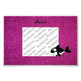 Brillo conocido personalizado del rosa de la orca cojinete
