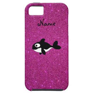 Brillo conocido personalizado del rosa de la orca iPhone 5 cárcasa