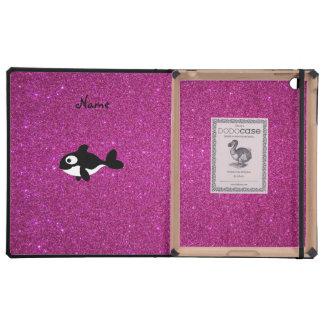 Brillo conocido personalizado del rosa de la orca iPad coberturas