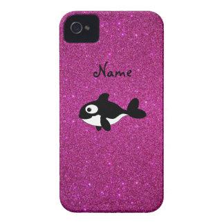 Brillo conocido personalizado del rosa de la orca iPhone 4 Case-Mate cárcasas