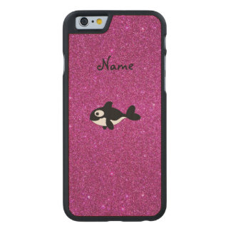 Brillo conocido personalizado del rosa de la orca funda de iPhone 6 carved® slim de arce
