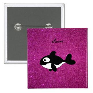 Brillo conocido personalizado del rosa de la orca pins