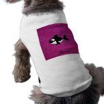Brillo conocido personalizado del rosa de la orca camisa de perro