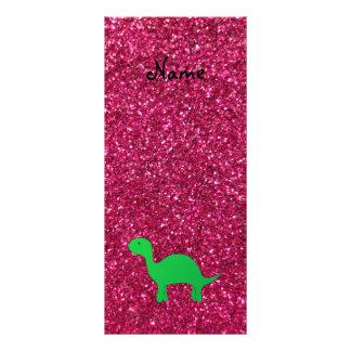 Brillo conocido personalizado del rosa del dinosau lonas