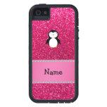 Brillo conocido personalizado del rosa del iPhone 5 Case-Mate cárcasas
