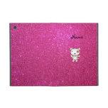 Brillo conocido personalizado del rosa del perro iPad mini carcasas