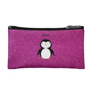 Brillo conocido personalizado del rosa del pingüin