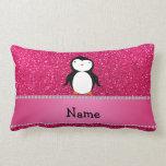 Brillo conocido personalizado del rosa del pingüin almohadas
