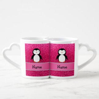 Brillo conocido personalizado del rosa del taza para enamorados