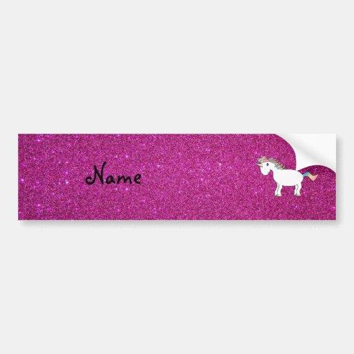 Brillo conocido personalizado del rosa del unicorn pegatina de parachoque