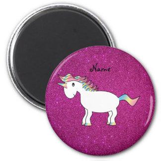Brillo conocido personalizado del rosa del unicorn imán para frigorífico