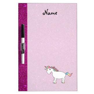 Brillo conocido personalizado del rosa del unicorn pizarra