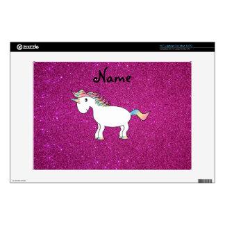 Brillo conocido personalizado del rosa del unicorn skins para portátil