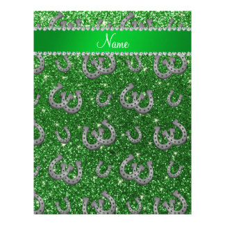 Brillo conocido personalizado del verde de las membretes personalizados