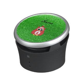Brillo conocido personalizado del verde del búho altavoz bluetooth