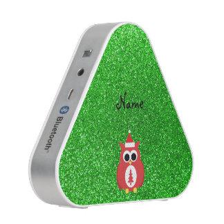 Brillo conocido personalizado del verde del búho altavoz