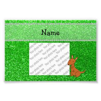 Brillo conocido personalizado del verde del cangur impresion fotografica