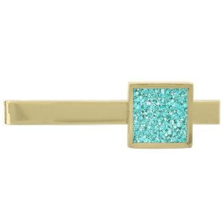 Brillo cristalino de Druzy - azul de aquamarine