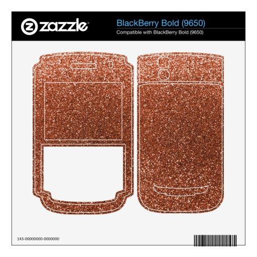 Brillo de cobre BlackBerry bold 9650 skin