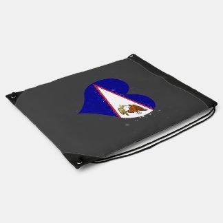 Brillo de la bandera de American Samoa hermoso Mochilas