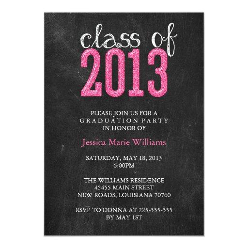 Brillo de la fiesta de graduación el | de la invitación 12,7 x 17,8 cm