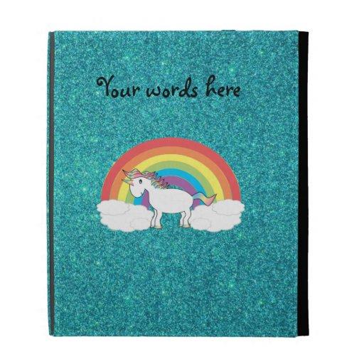 Brillo de la turquesa del unicornio del arco iris