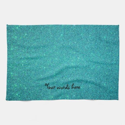 Brillo de la turquesa toallas de mano