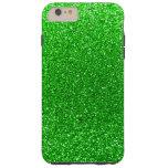 Brillo de la verde lima funda para iPhone 6 plus tough