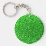 Brillo de la verde lima llaveros personalizados