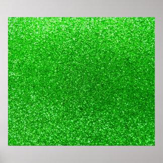 Brillo de la verde lima póster