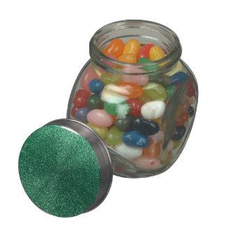 Brillo de la verde menta jarrones de cristal