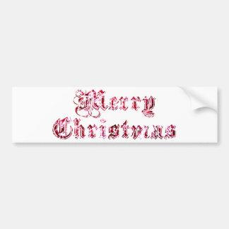 Brillo de las Felices Navidad Etiqueta De Parachoque
