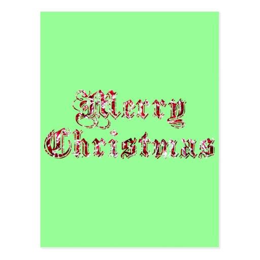 Brillo de las Felices Navidad Postal