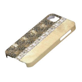 Brillo de las gotas y caso metálicos de IPhone de  iPhone 5 Funda