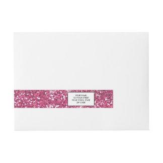 Brillo de las rosas fuertes impreso etiquetas postales