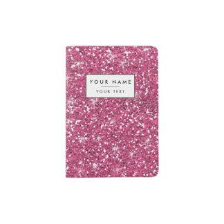 Brillo de las rosas fuertes impreso porta pasaporte