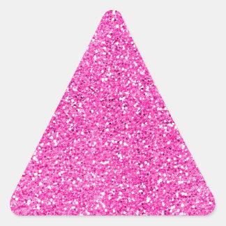 Brillo de las rosas fuertes pegatina triangular