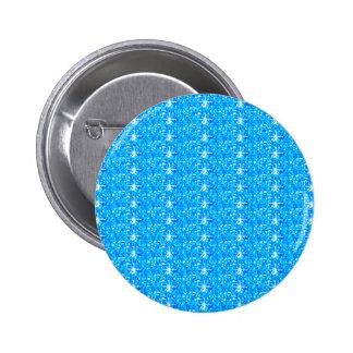 Brillo de los azules cielos del botón pin redondo de 2 pulgadas