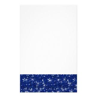 Brillo de los azules marinos impreso papelería de diseño