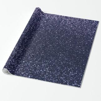 Brillo de los azules marinos papel de regalo