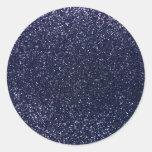 Brillo de los azules marinos pegatina redonda