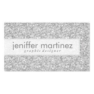 Brillo de los gris plateados y textura elegantes d tarjetas de visita