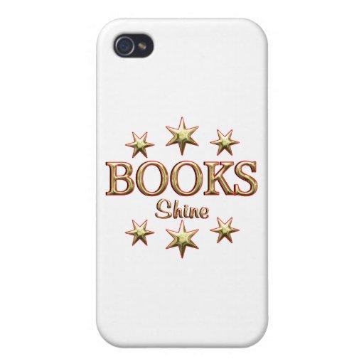 Brillo de los libros iPhone 4/4S funda
