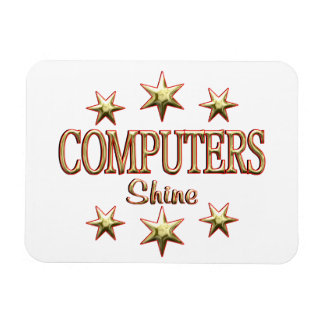 Brillo de los ordenadores rectangle magnet