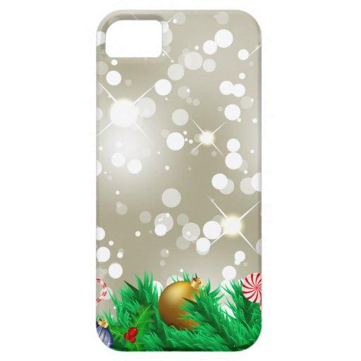 Brillo de los ornamentos del navidad iPhone 5 Case-Mate protector
